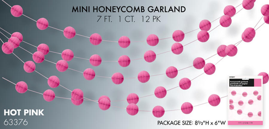 Hot Pink honeycomb garland
