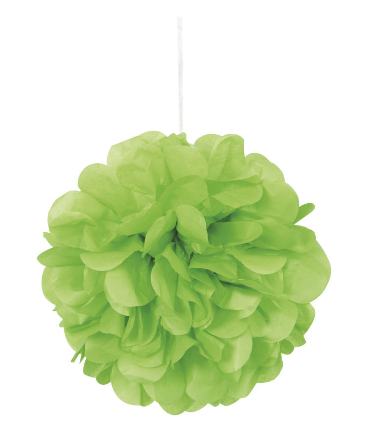 Lime Green 9 inch fluffy pom poms