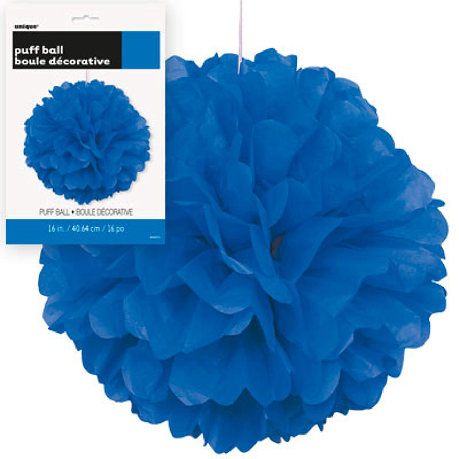Royal Blue 9 inch fluffy pom poms
