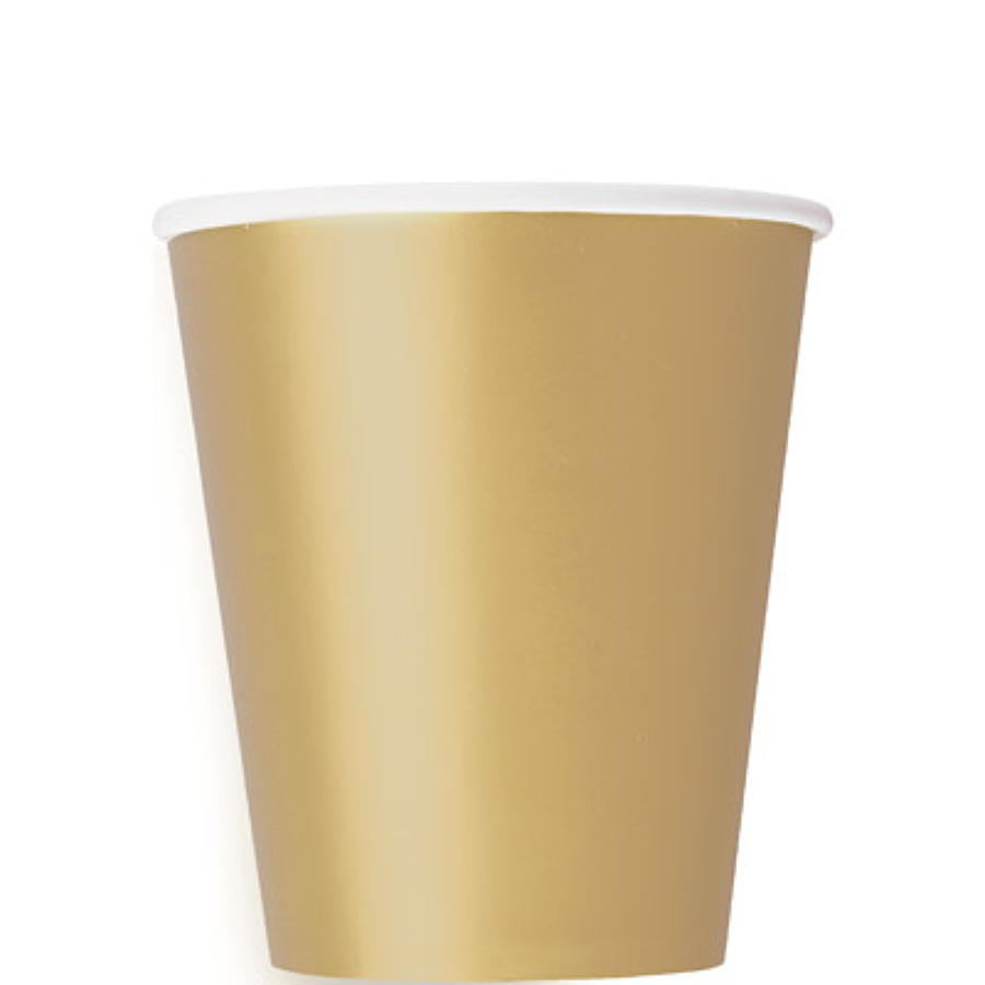 Gold 9oz Paper Cups