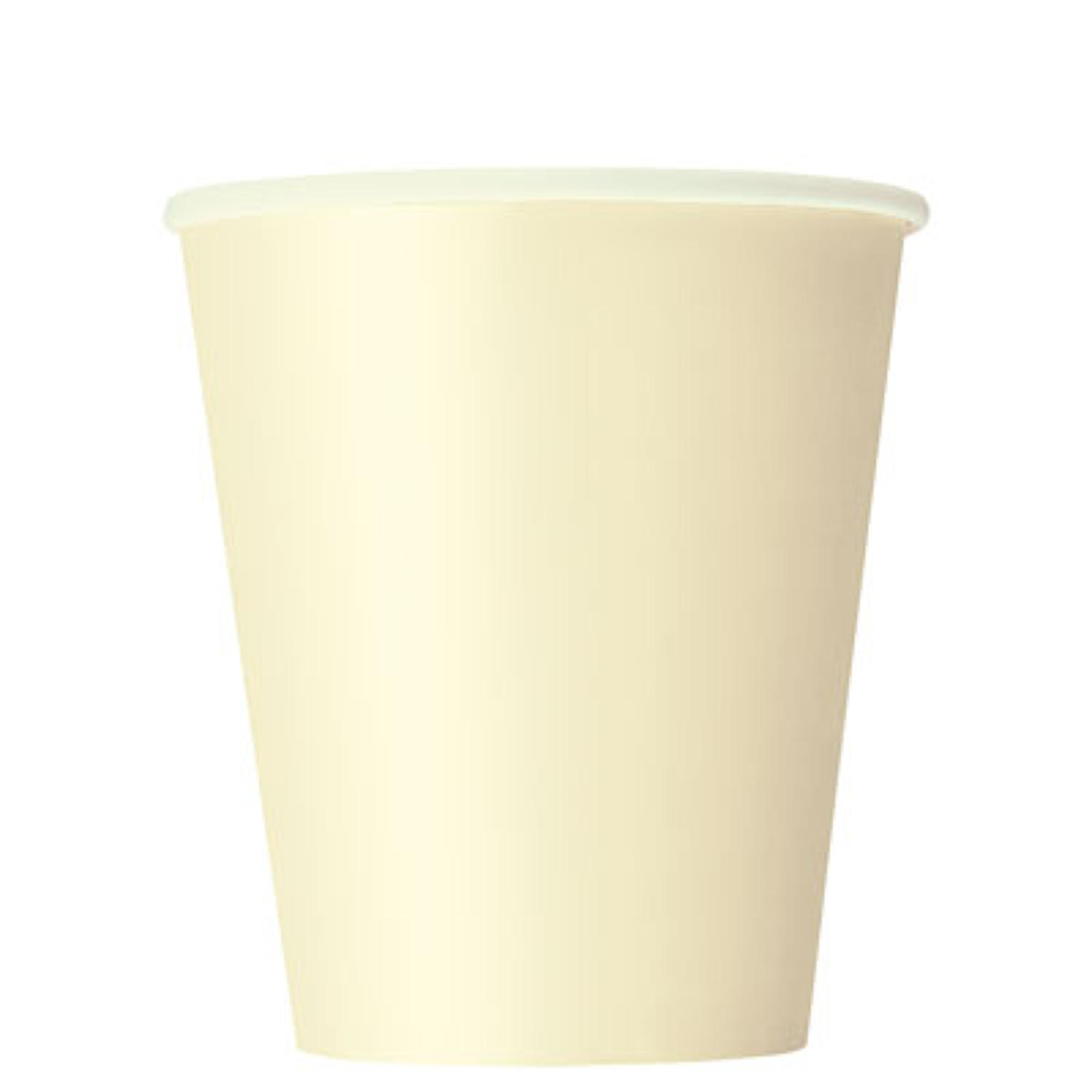 Ivory 9oz paper cups