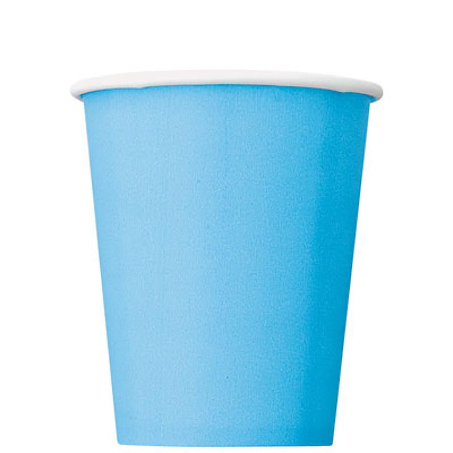 Pale Blue 9oz paper cup