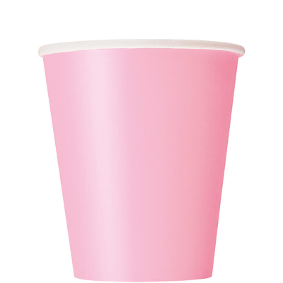 Pale Pink 9oz paper cups