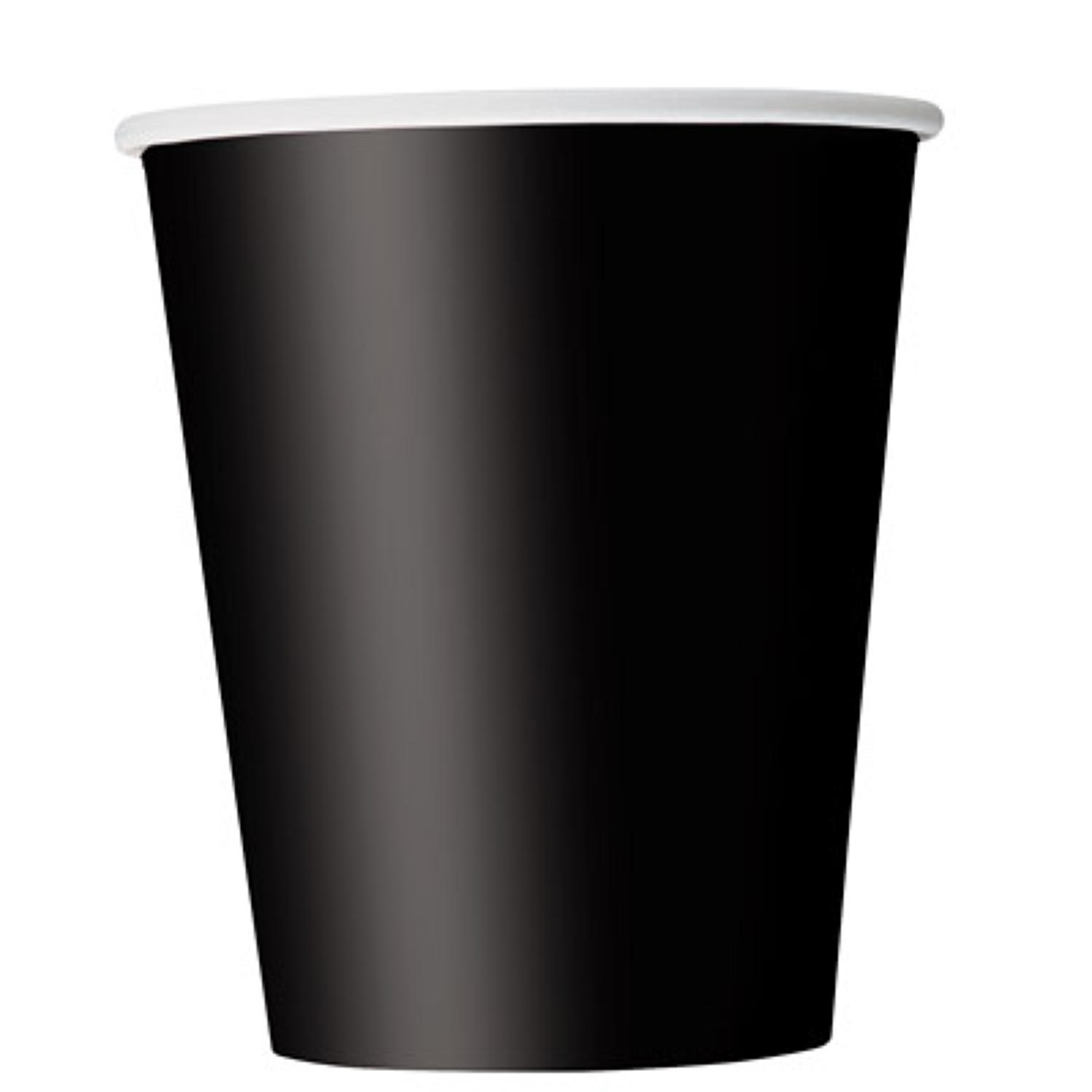 Black 9oz paper cups
