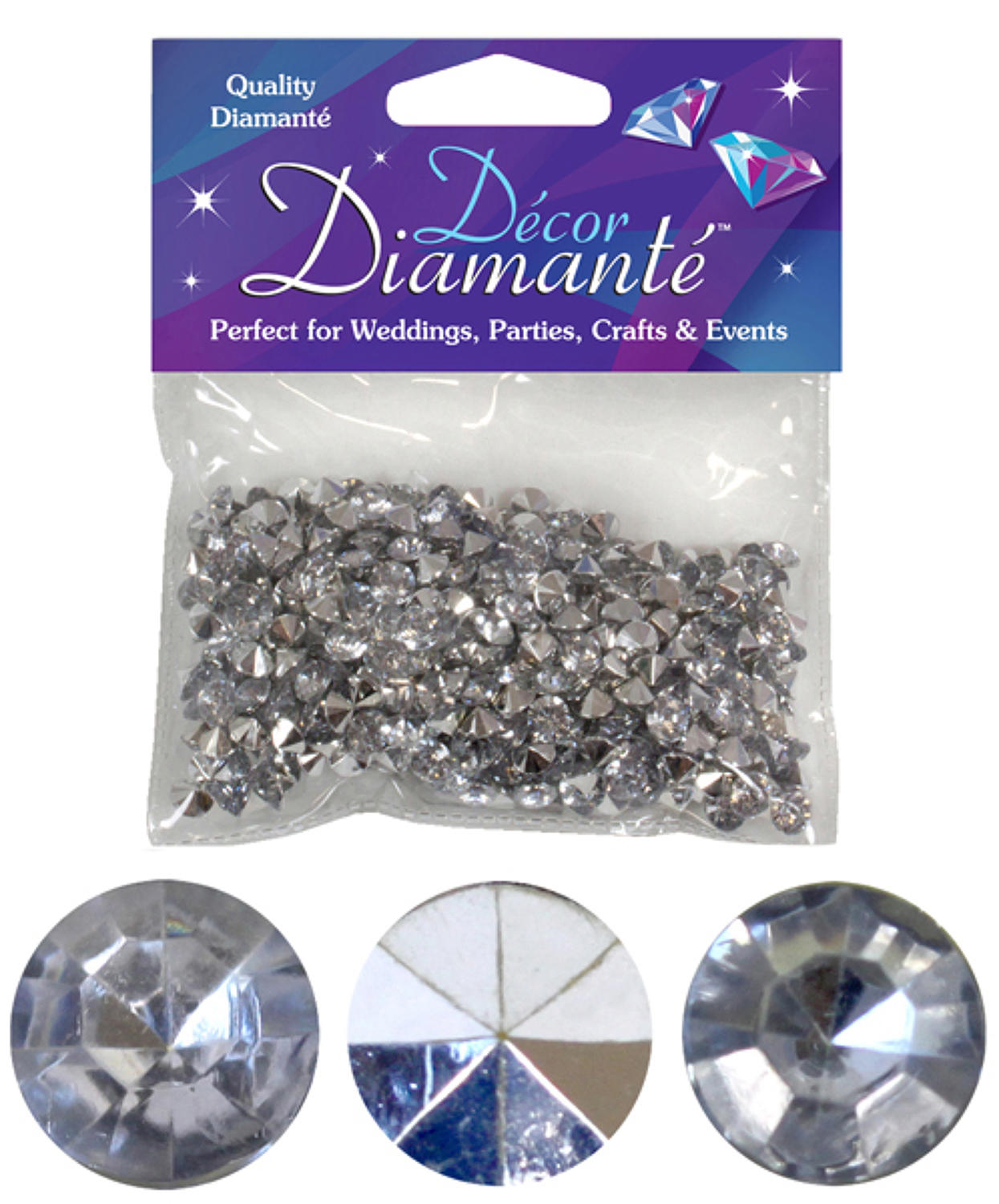 Silver Diamante gems