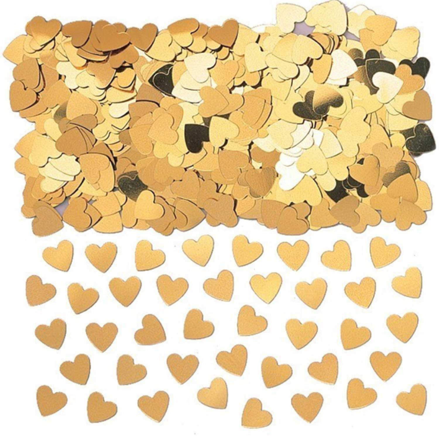 Gold table confetti hearts