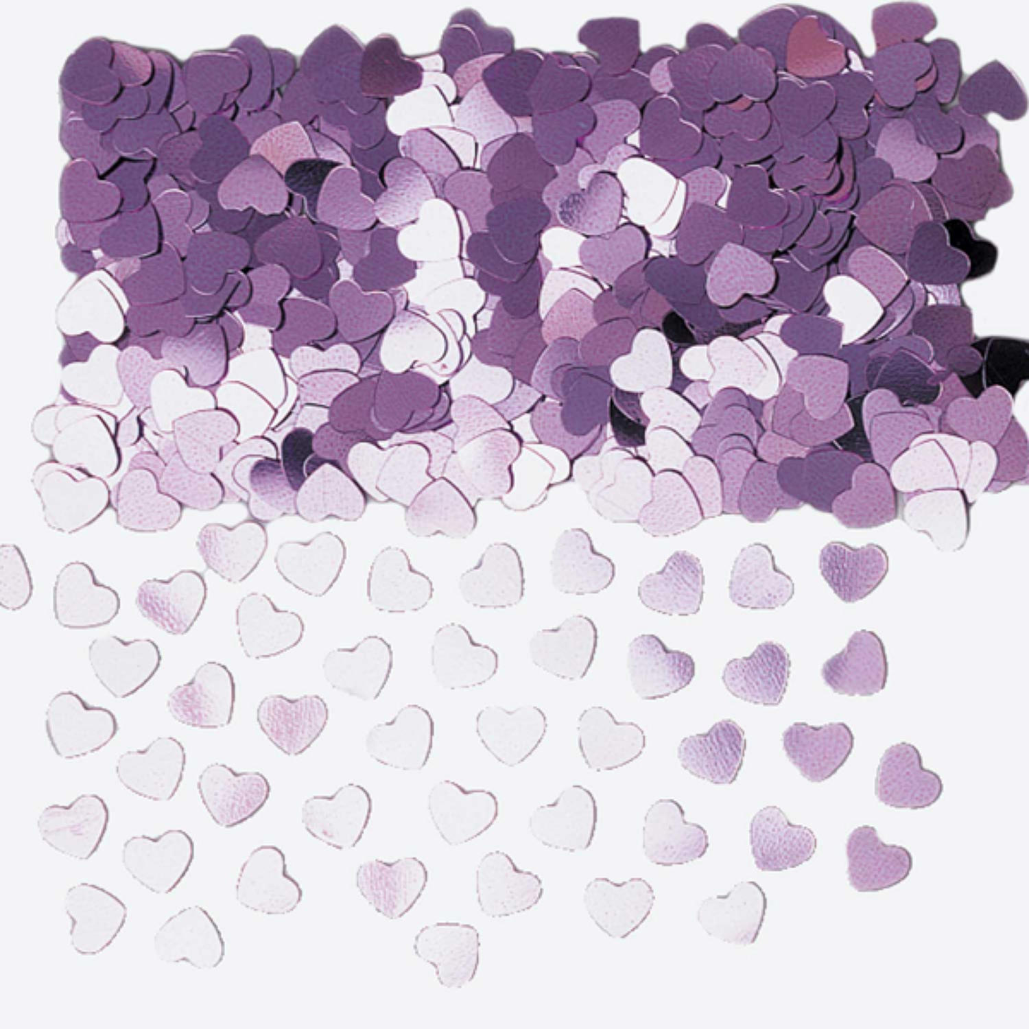 Lilac table confetti hearts