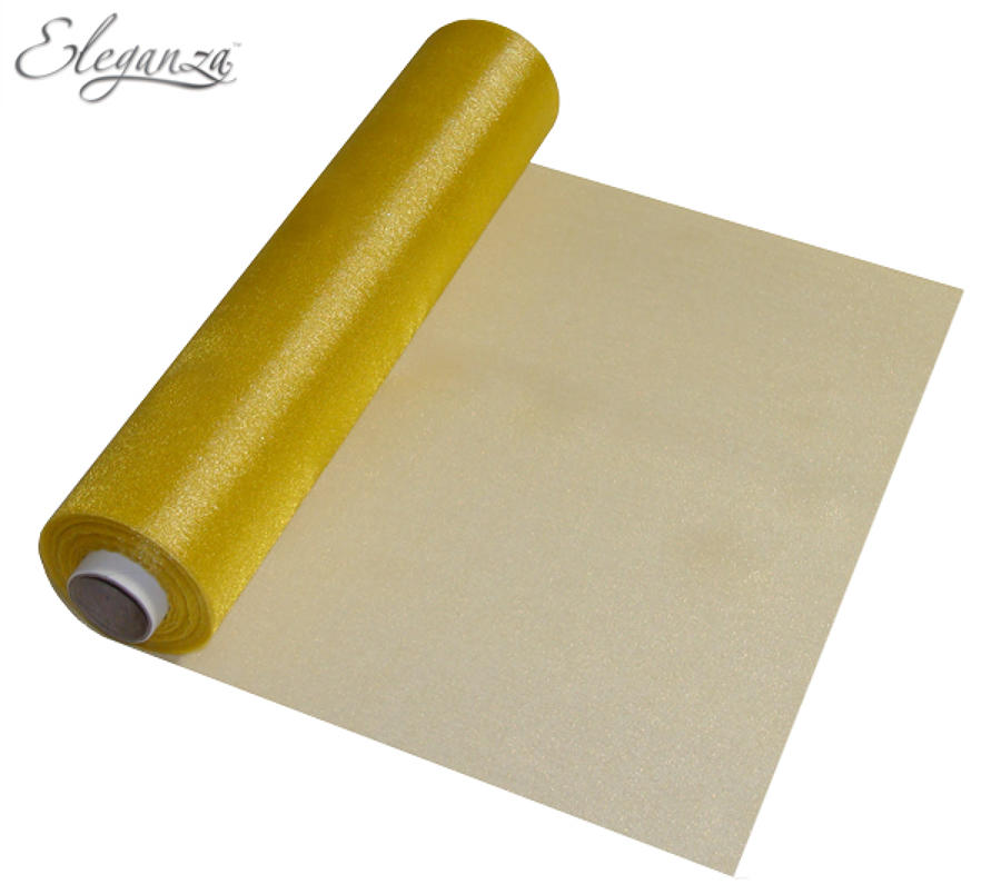 Gold Organza table runners
