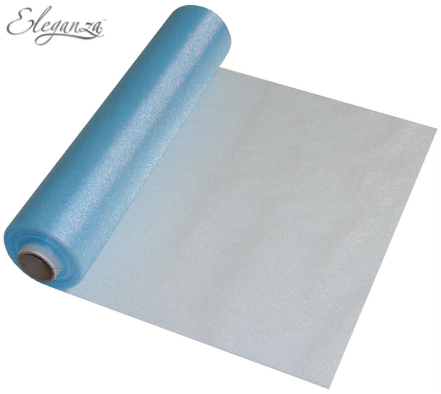 Light blue organza table runner