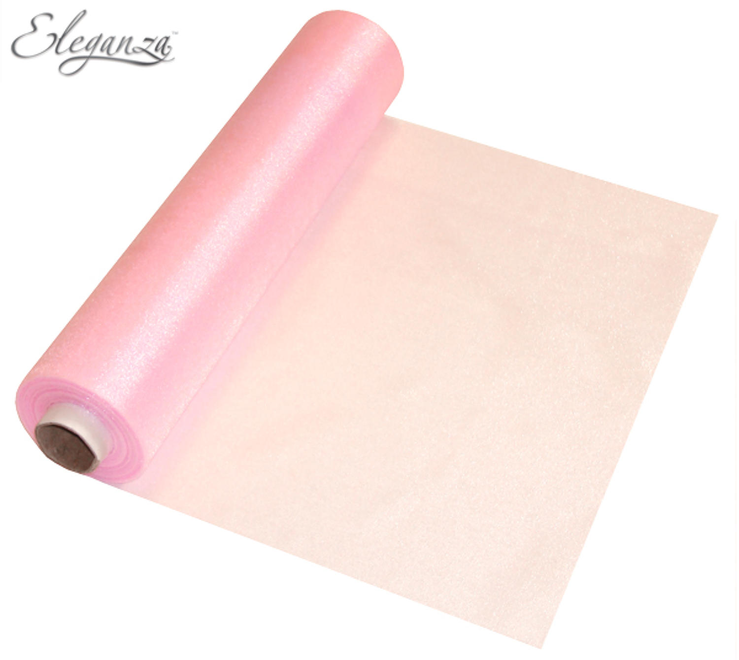 Soft pink organza table runner