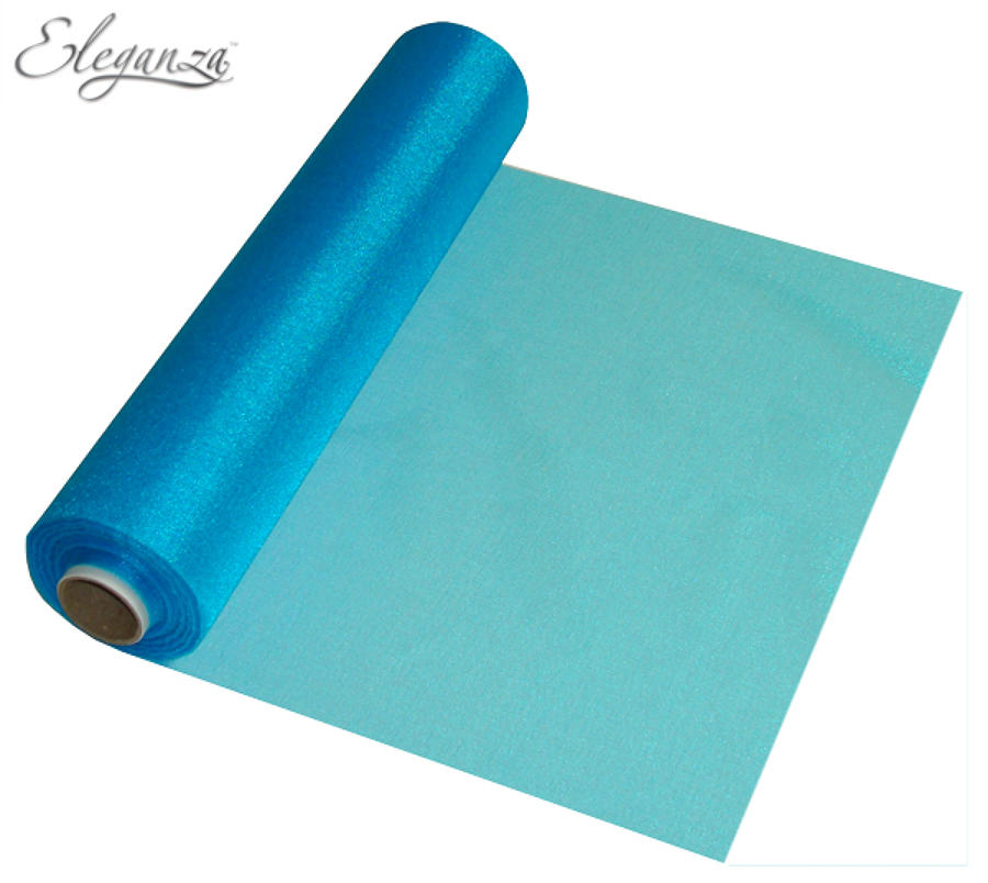 Turquoise organza table runner