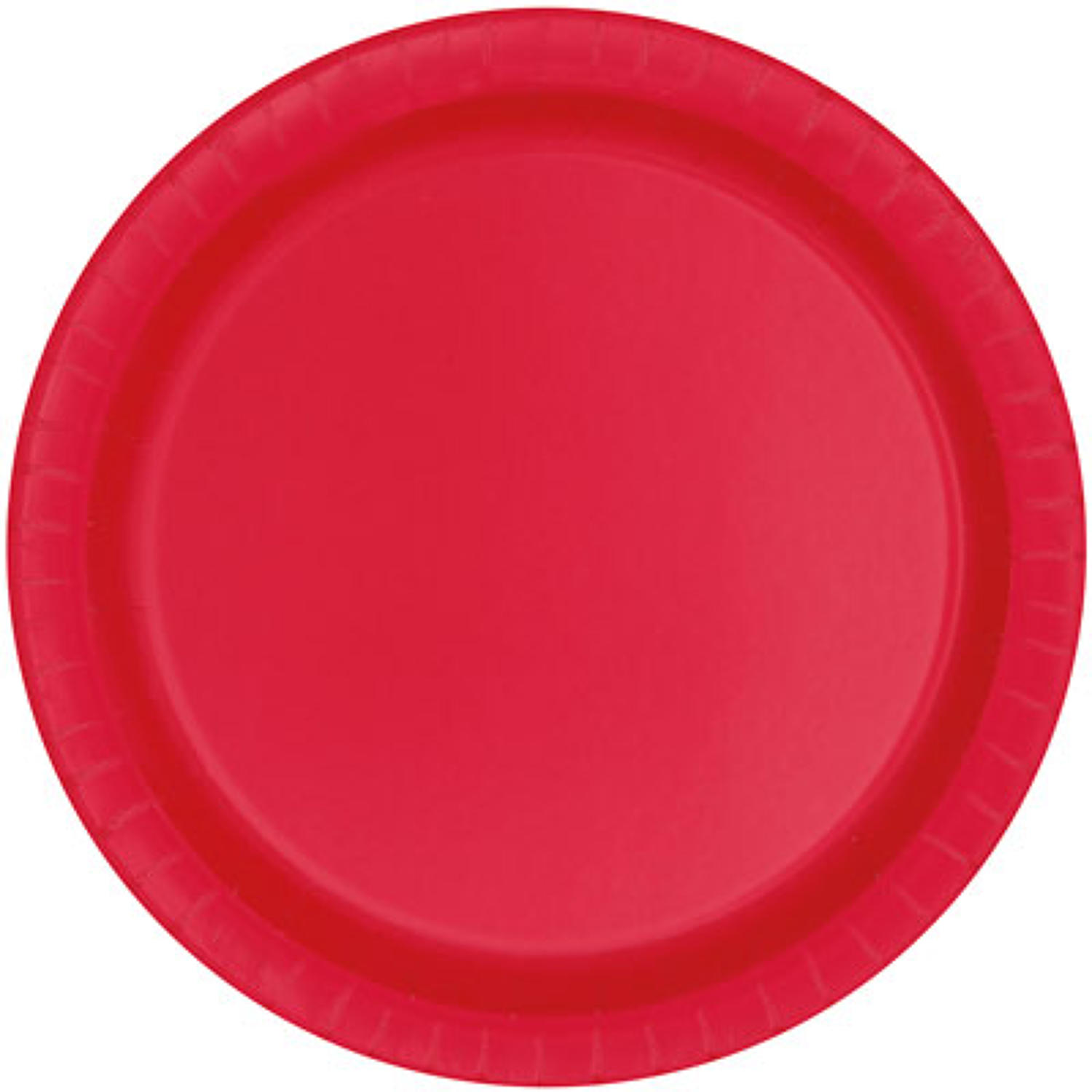Ruby Red Paper Plates - 9