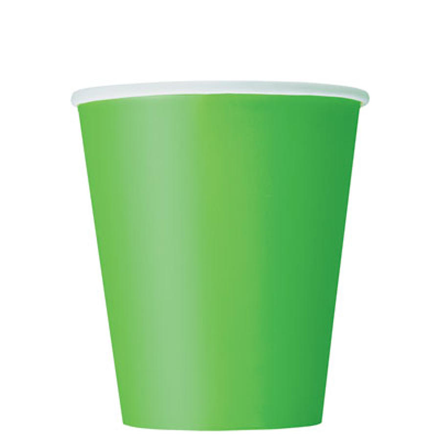 Lime Green 9oz Paper Cups