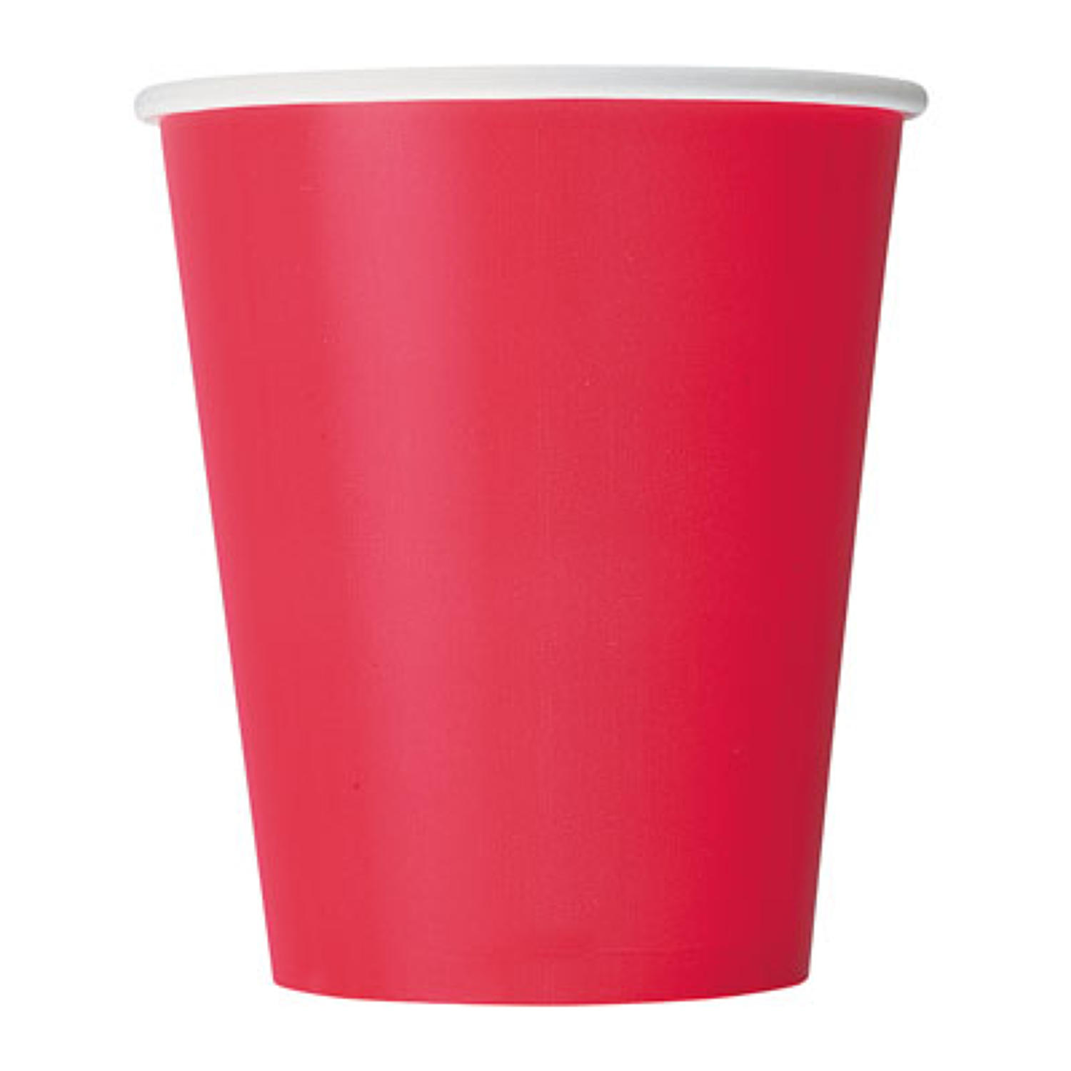 Red 9oz Paper Cups