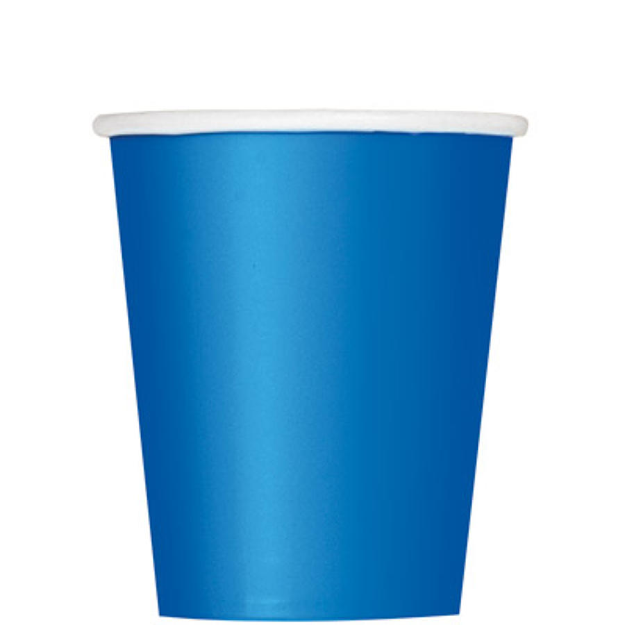 Royal Blue 9oz Paper Cups