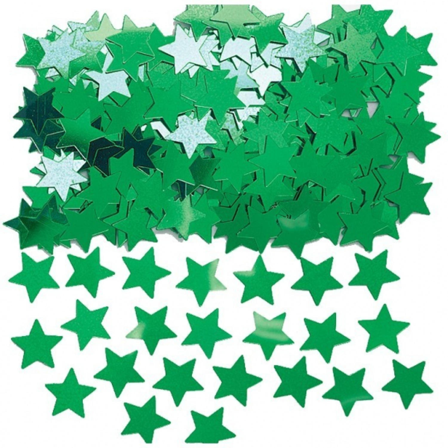 Green star table confetti