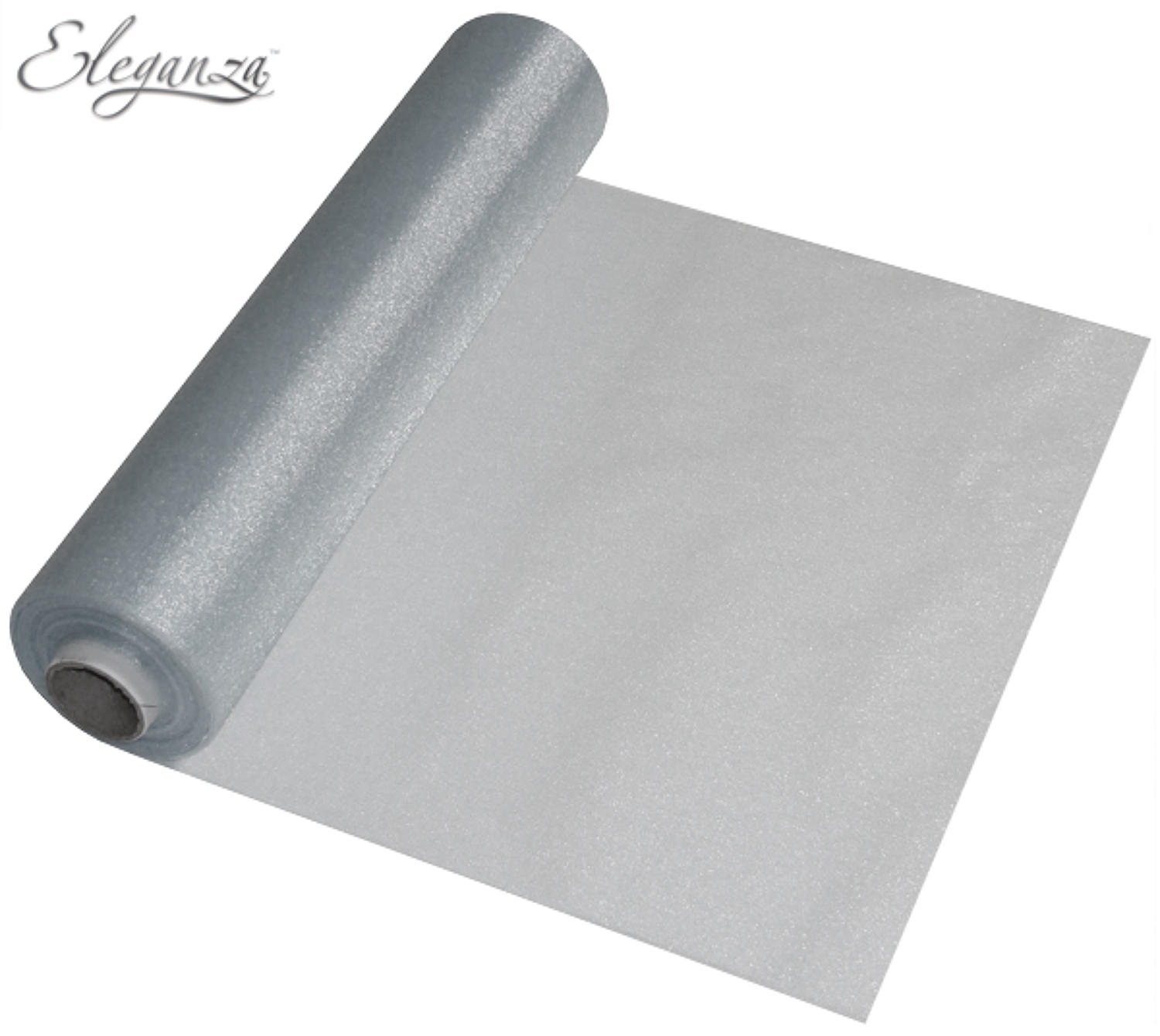 Silver Organza Table Runner
