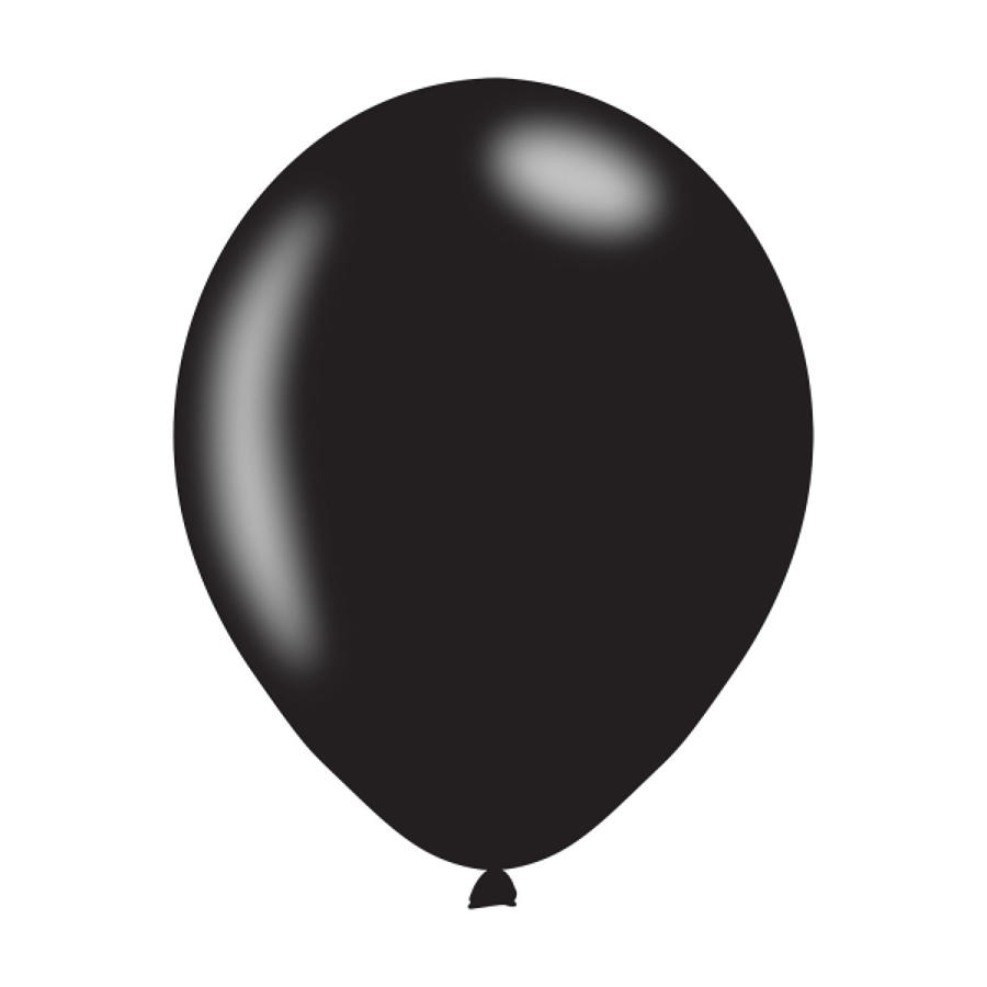 Black Metallic Latex Balloons