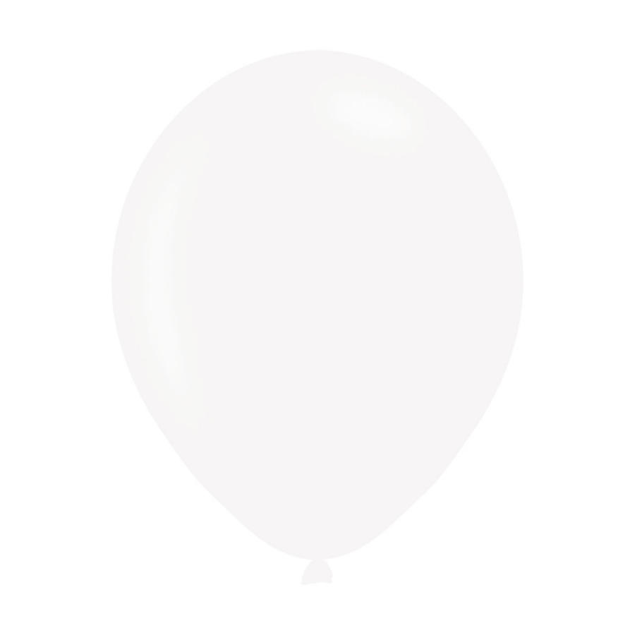 White Metallic Latex Balloons
