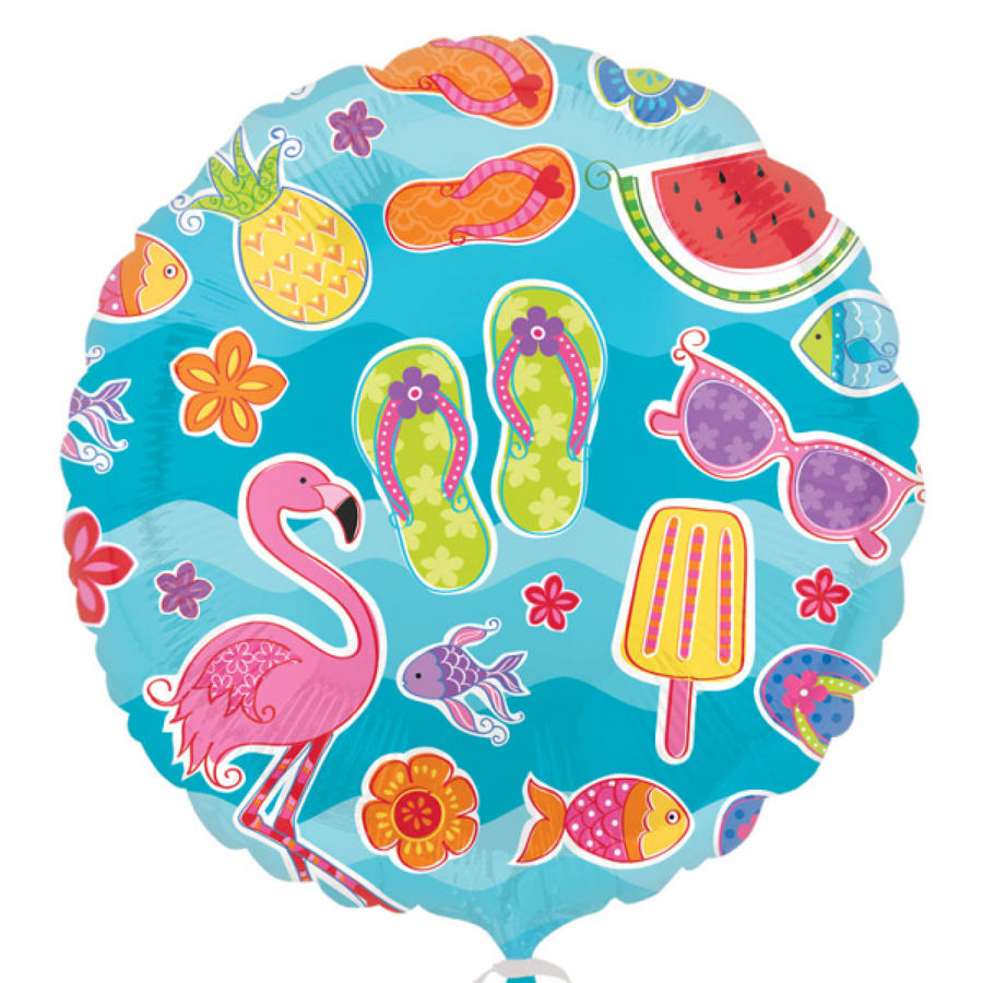 Summer fun foil balloon