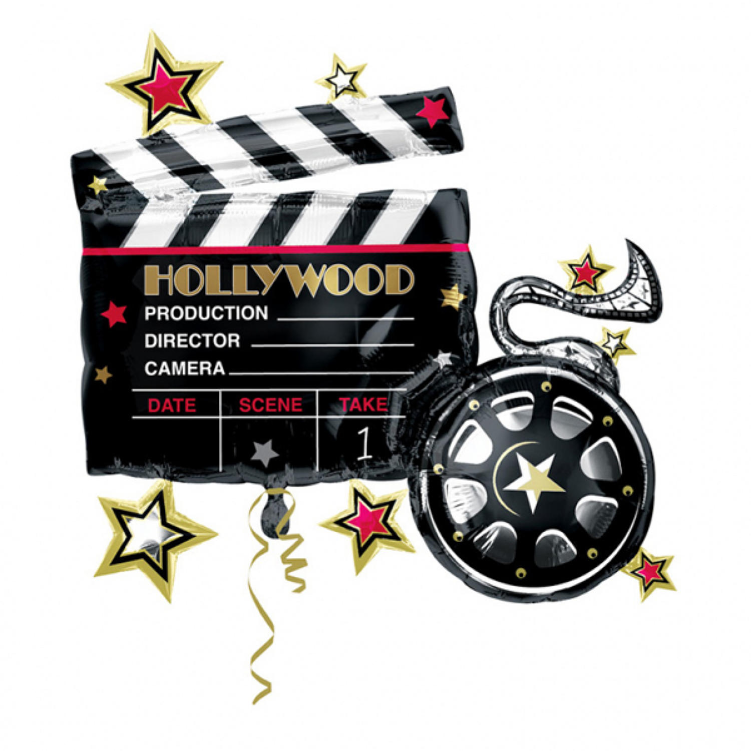 Hollywood Clapperboard Foil shape balloon