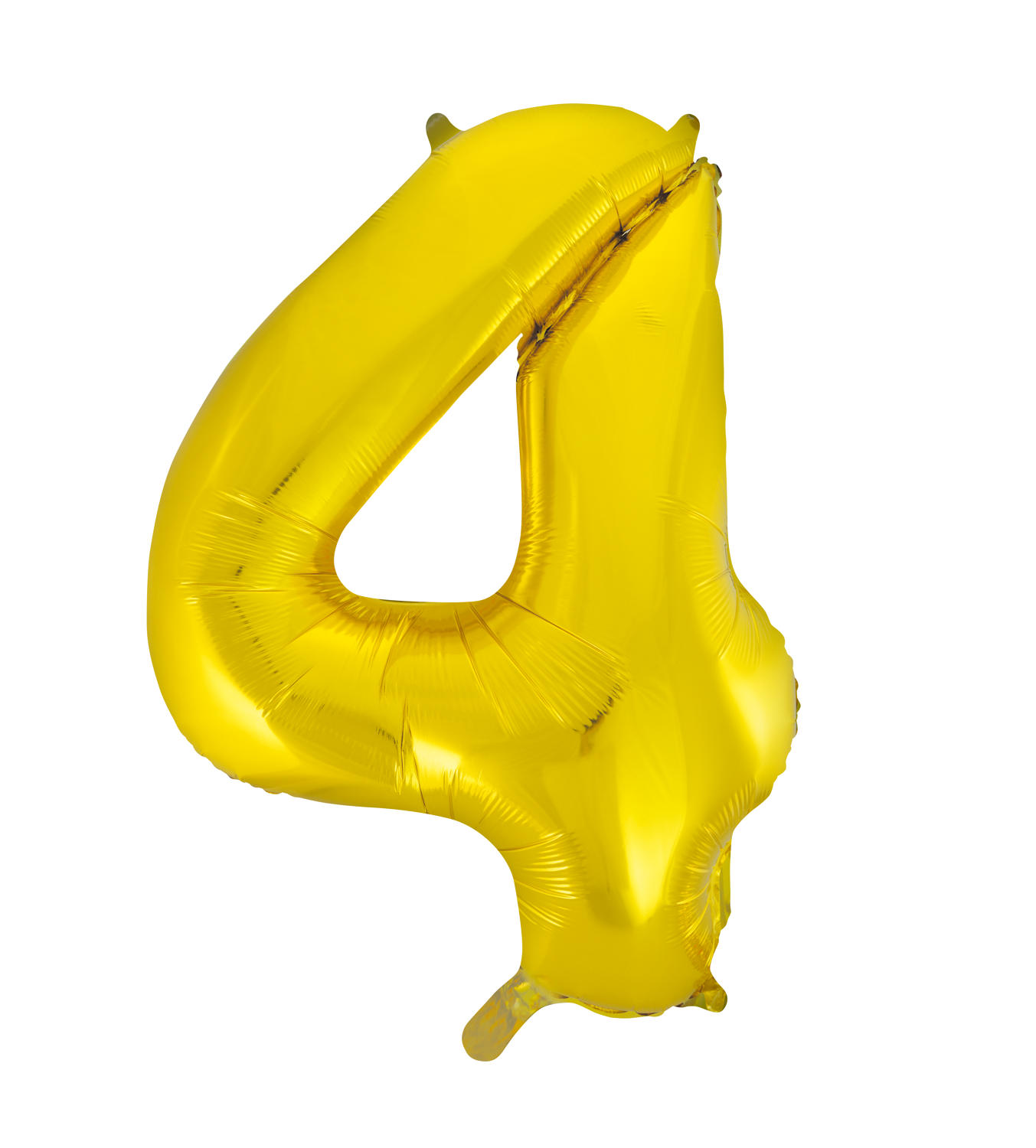 Number 4 Gold Foil Balloon