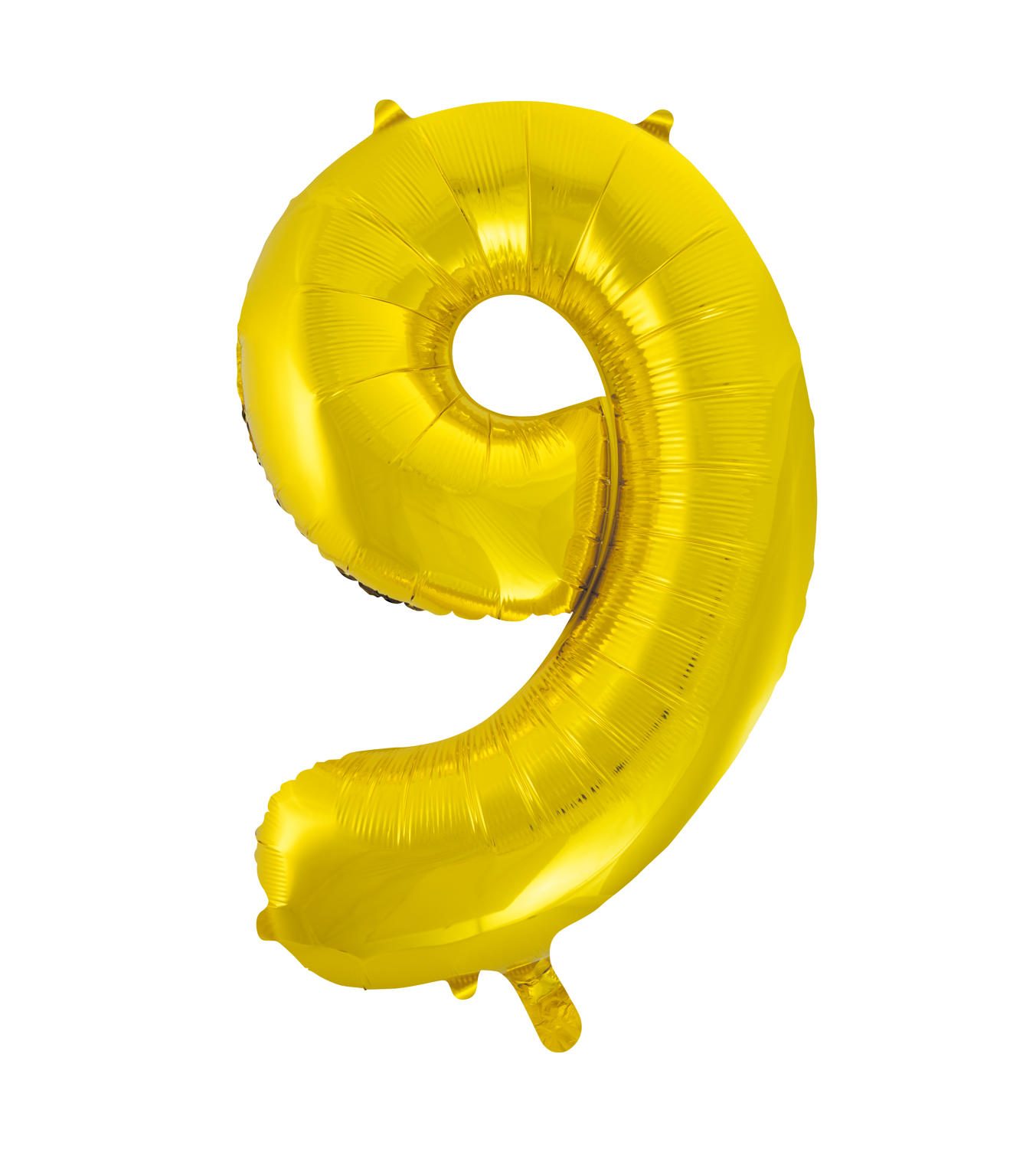 Number 9 Gold Foil Balloon