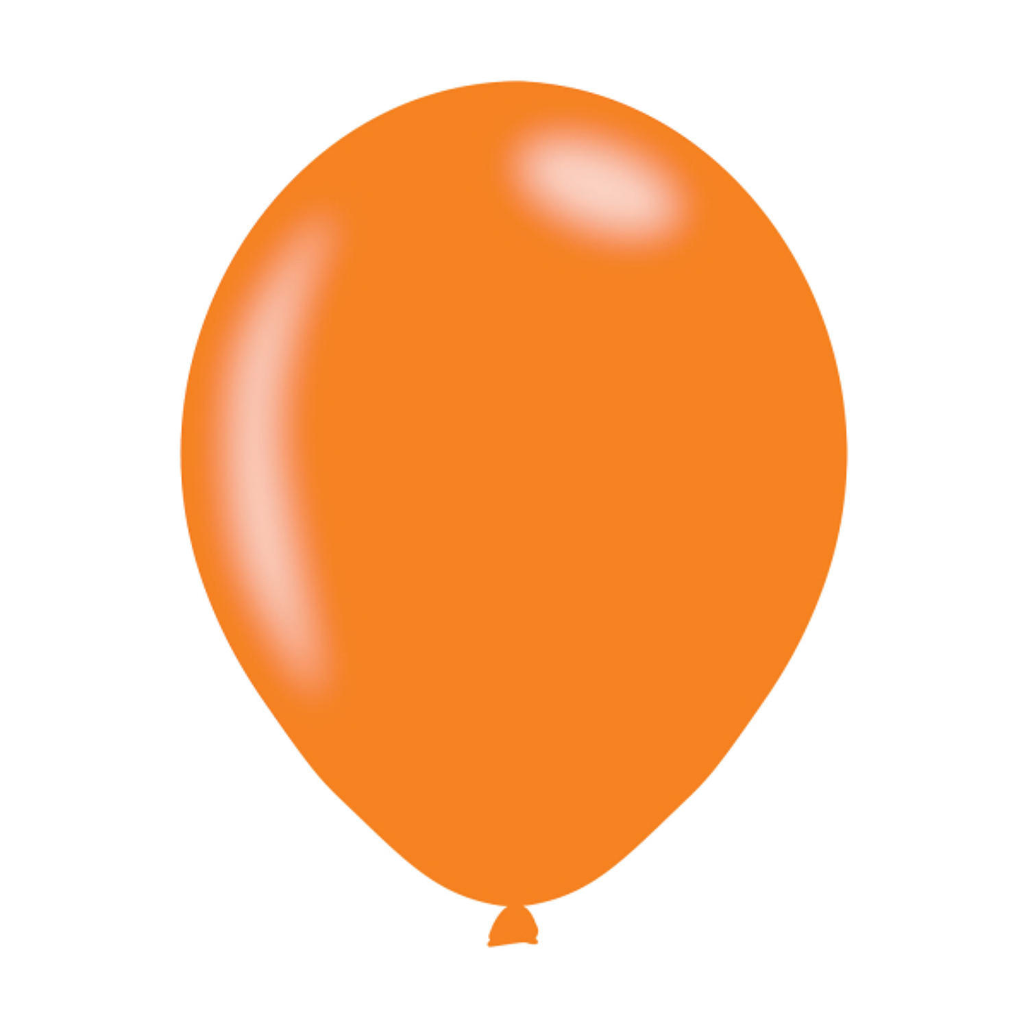 Orange Metallic Latex Balloons