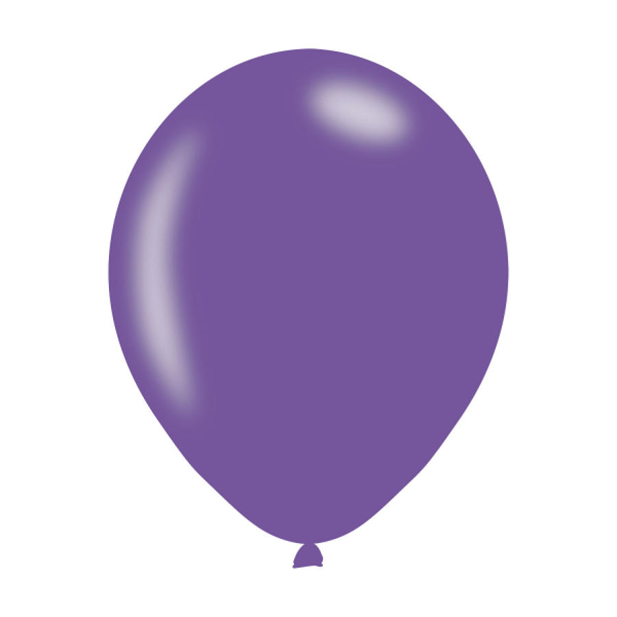 Purple Metallic Latex Balloons
