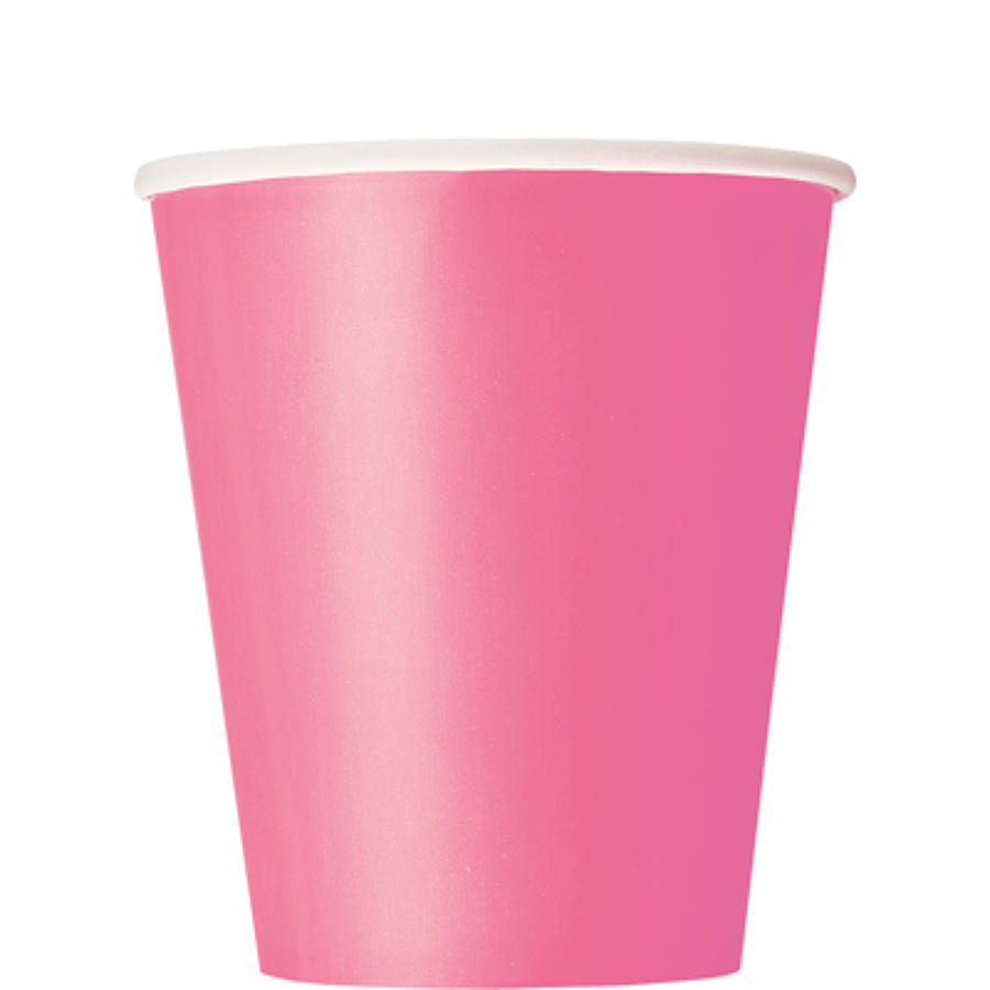 Hot Pink 9oz Paper cups