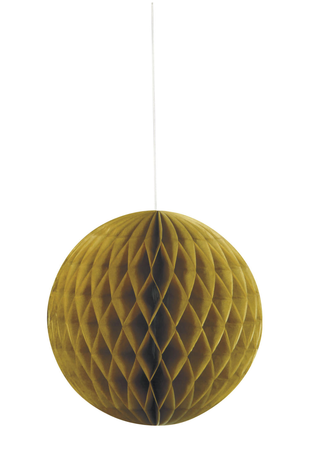 Large Honeycomb Ball Gold