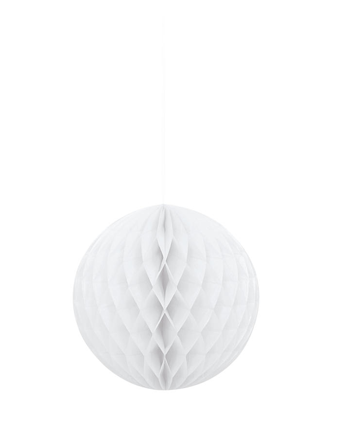 Large Honeycomb Ball  - White