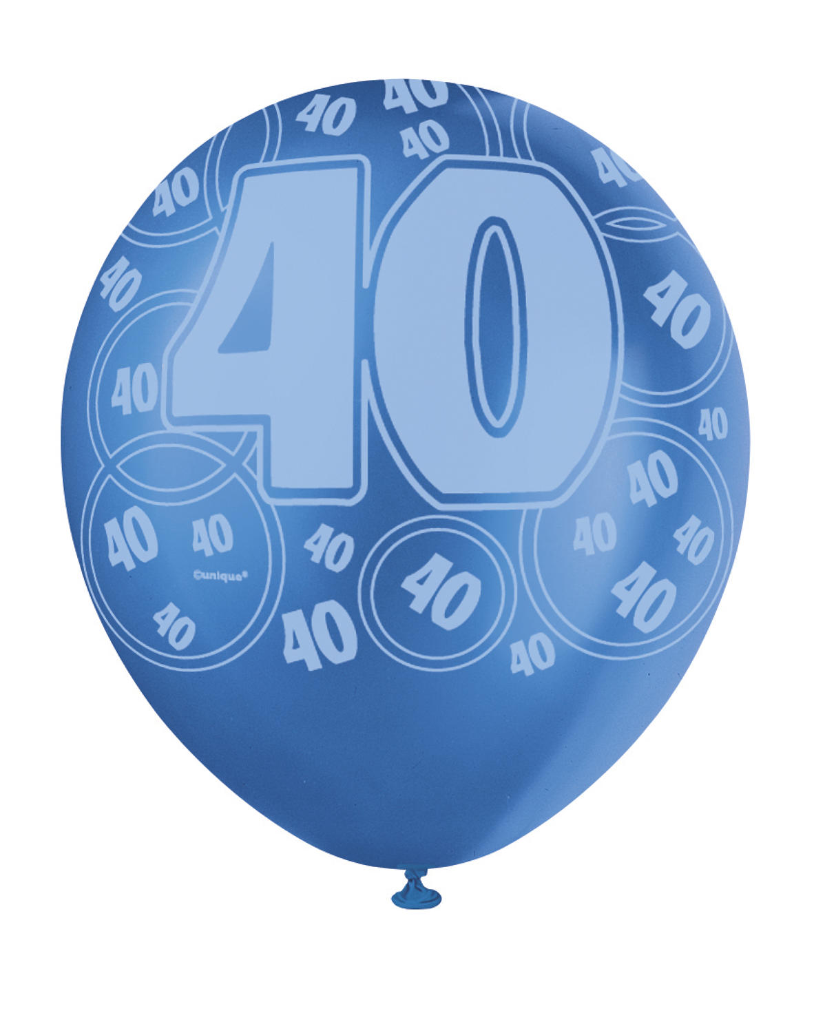 Blue Glitz - 40th Birthday Balloons