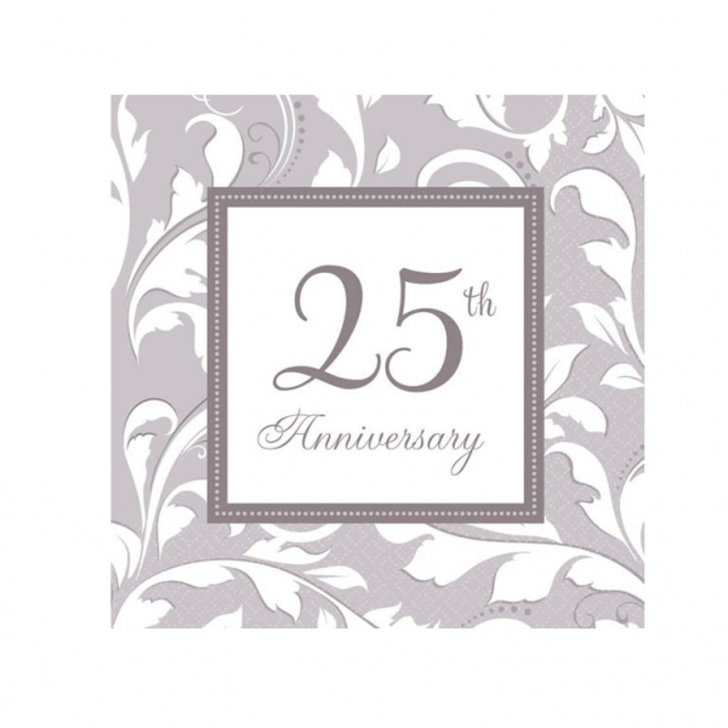 25th Wedding Anniversary Serviettes