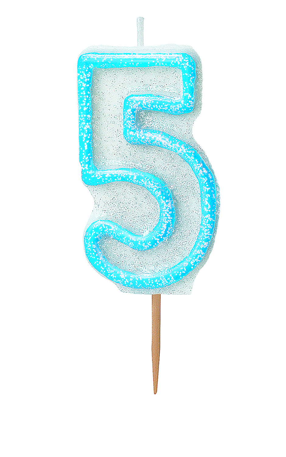 Blue no 5 Candle