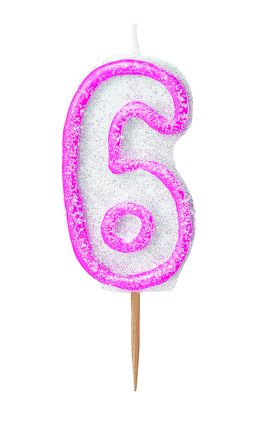 Pink no 6 Candle