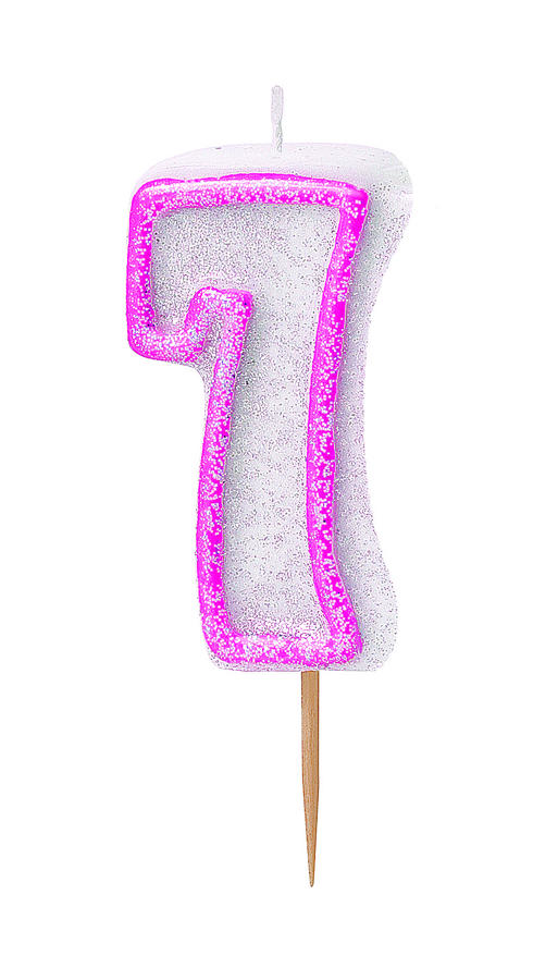 Pink no 7 Candle