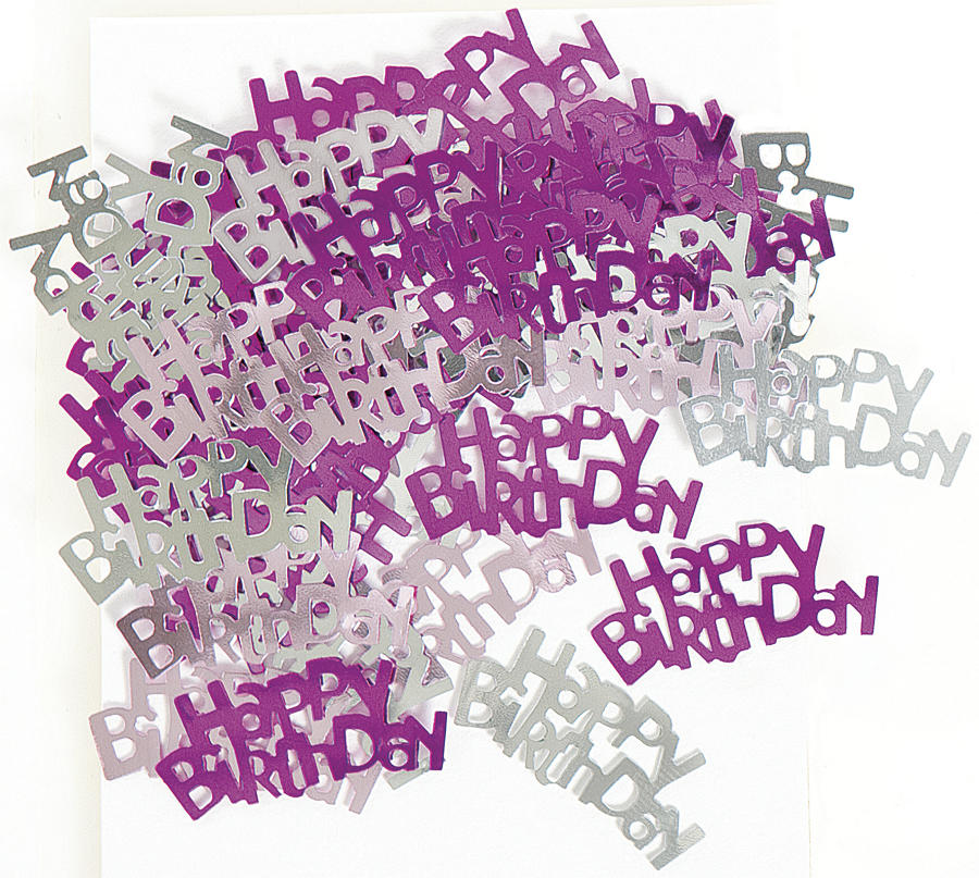 Happy Birthday Table Confetti Pink
