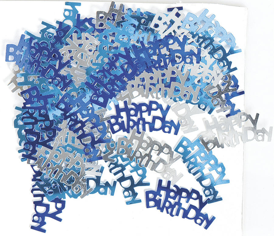 Blue Happy Birthday Table Confetti
