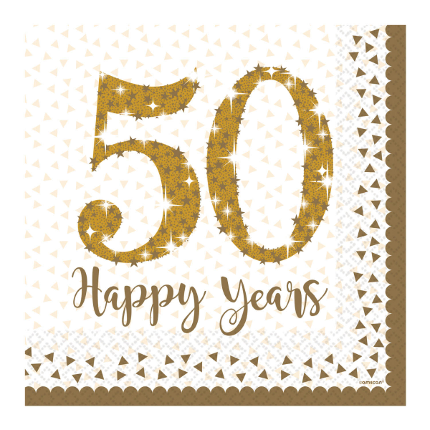 50 Happy Years Serviettes