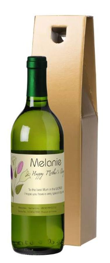 Mother's Day Personalised white wine