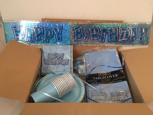 Blue Birthday party supplies package