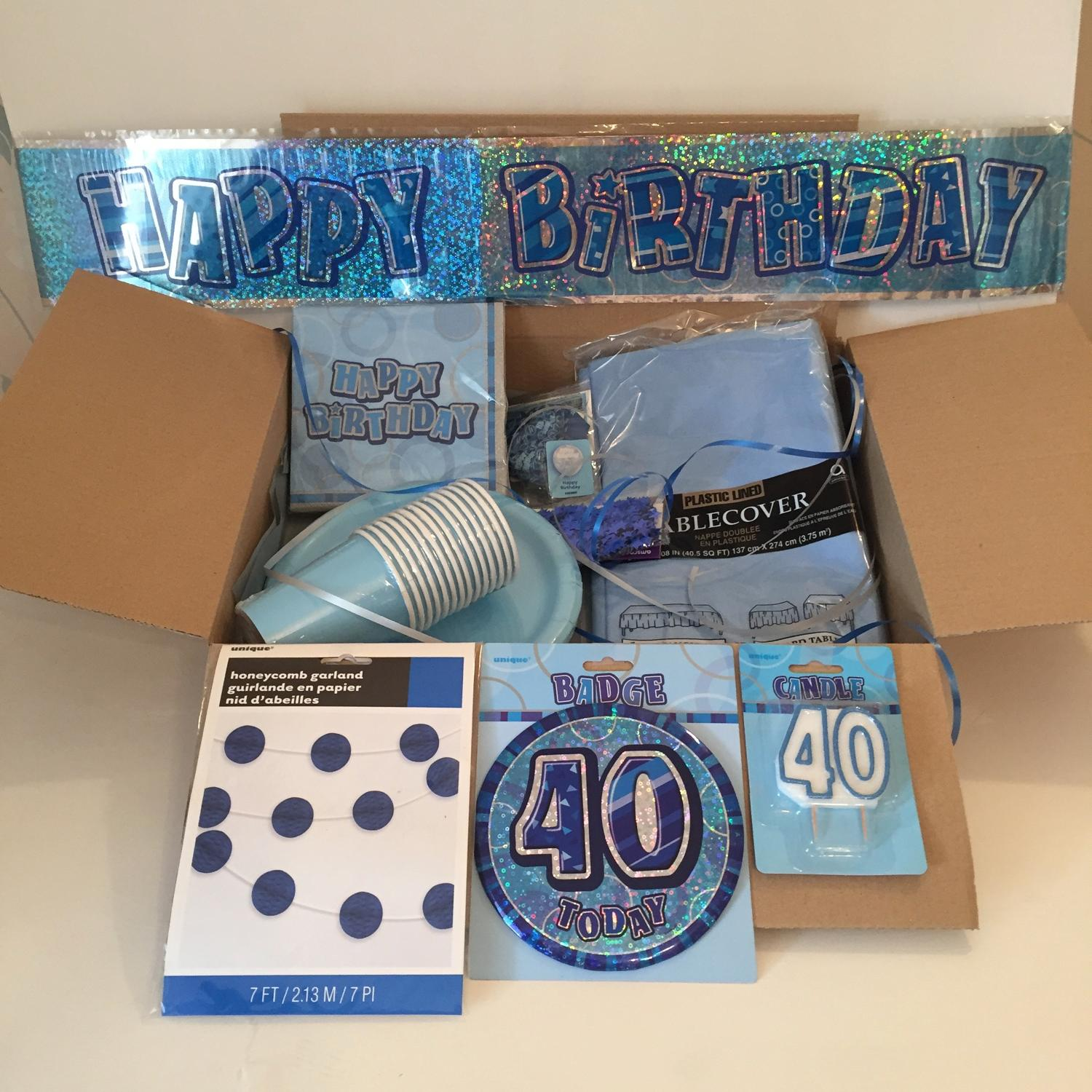 Blue Birthday Party Supplies Package In Party Supplies