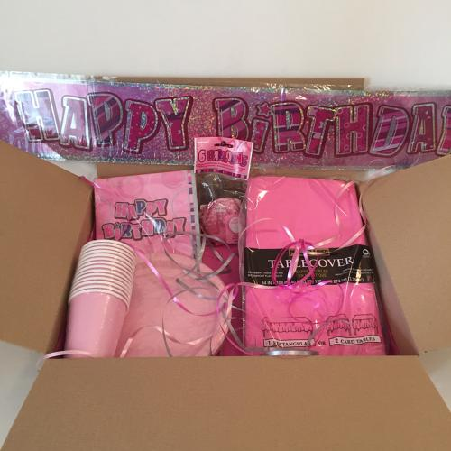 Pink Birthday party supplies package